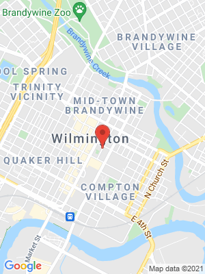 a map showing where the Public Employment Relations Board (PERB) is located in Wilmington DE